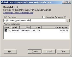 configuracion de disk2vhd